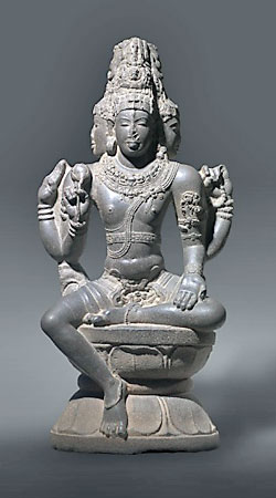 Shiva as Brahma sculpture